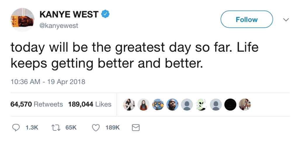 Kanye West Tweet Screenshot